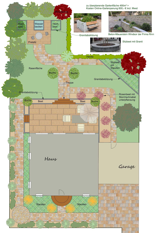 Gartenplanung für einen Privatgarten in Schwerin
