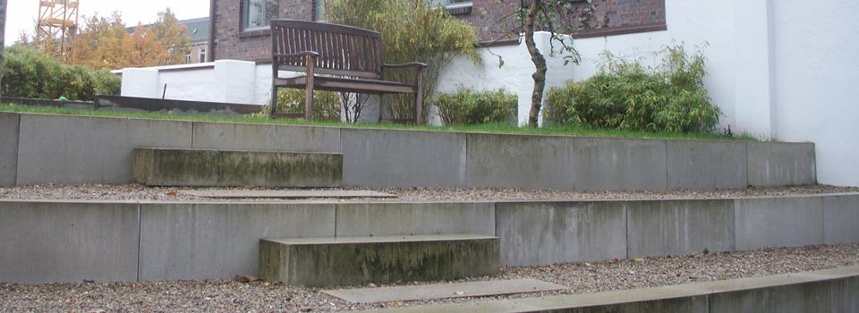Die Stufenanlage vorher