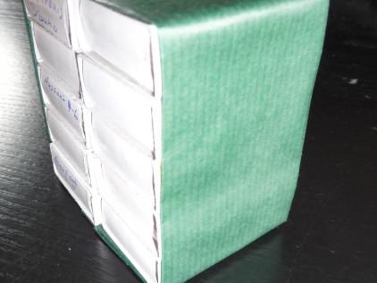 Diy Samenbox Streichhlzschachtel verkleiden